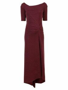 Tadashi Shoji long ribbed evening dress - Red