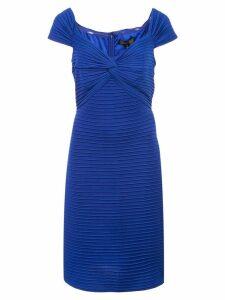 Tadashi Shoji fitted ribbed dress - Blue