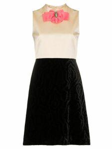 Gucci Silk Bow Detail Duchess Dress - Black