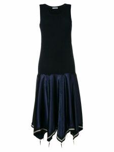 JW Anderson sleeveless flared midi dress - Blue