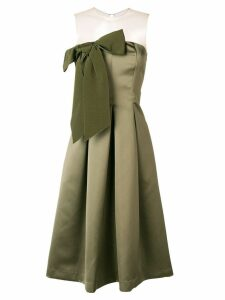 P.A.R.O.S.H. bow front midi dress - Green