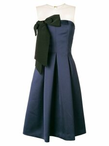 P.A.R.O.S.H. bow front midi dress - Blue