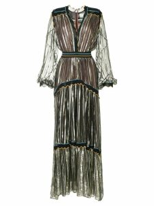 Peter Pilotto striped metallic chiffon gown