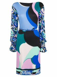 Emilio Pucci printed belted dress - Blue