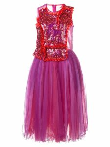 Comme Des Garçons sequinned tulle midi dress - Red