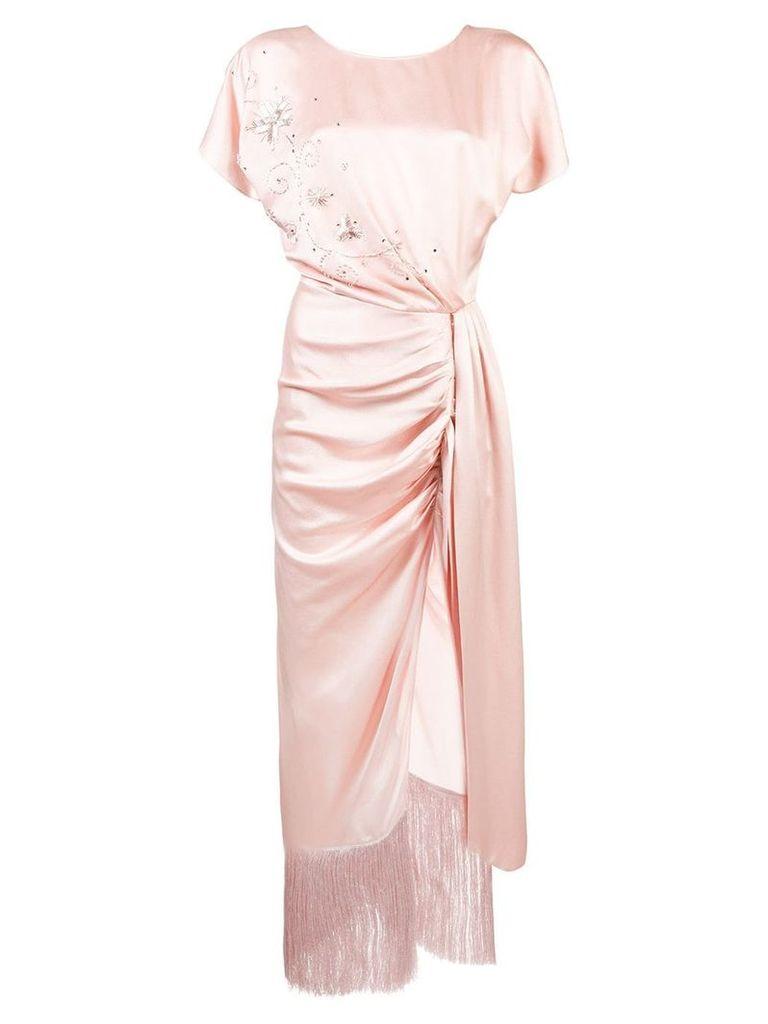 Magda Butrym side knot dress - Pink