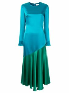 Racil Greta colour-block flared dress - Blue