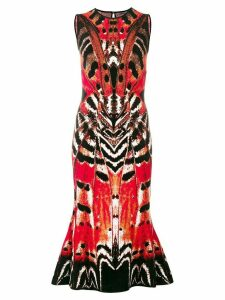 Alexander McQueen printed flared dress