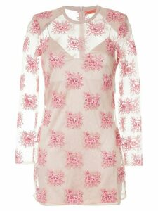 Manning Cartell embroidered sheer mini dress - Pink
