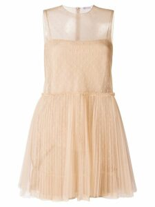 Red Valentino sheer tulle mini dress - Neutrals