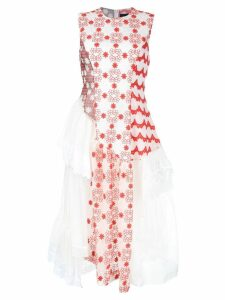 Simone Rocha applique asymmetric dress - Red