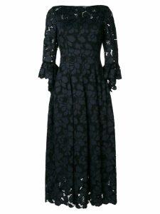 Talbot Runhof lotus lace midi dress - Black