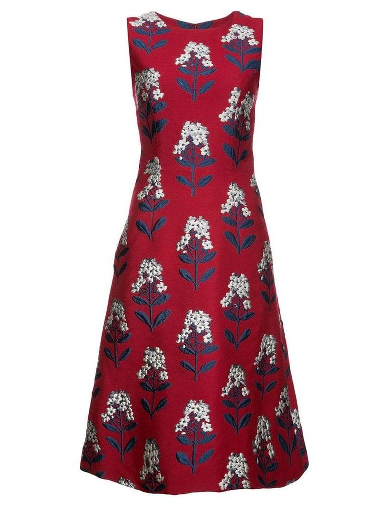 Carolina Herrera floral dress - Red
