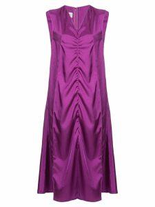 We11done V-neck ruched tank dress - Pink