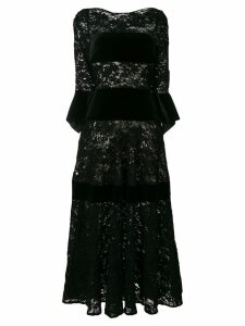 Talbot Runhof sequin lace dress - Black