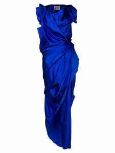 Vivienne Westwood ruched asymmetric dress - Blue
