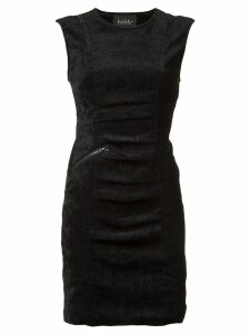 Nicole Miller sleeveless tucked dress - Black