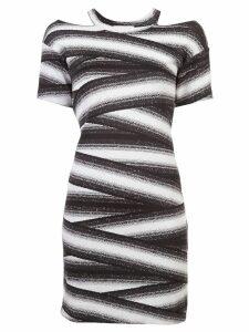 Nicole Miller bandage stripe dress - Black