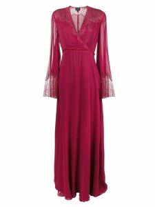 Giambattista Valli lace detail gown - Red