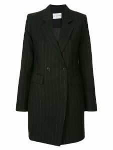 Strateas Carlucci striped plated blazer dress - Black