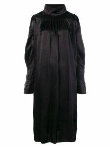 Atelier Bâba handwoven overdyed midi dress - Black