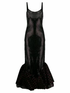 Attico sequin tulle dress - Black