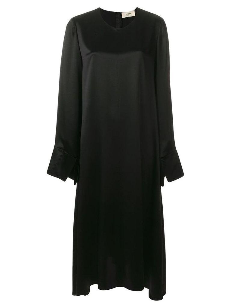 Ports 1961 satin midi dress - Black