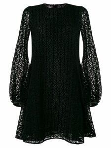 Giamba lace flared dress - Black