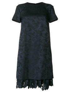 Talbot Runhof scalloped lace dress - Blue