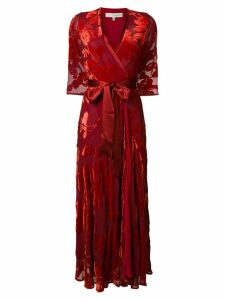 Galvan floral print wrap dress - Red