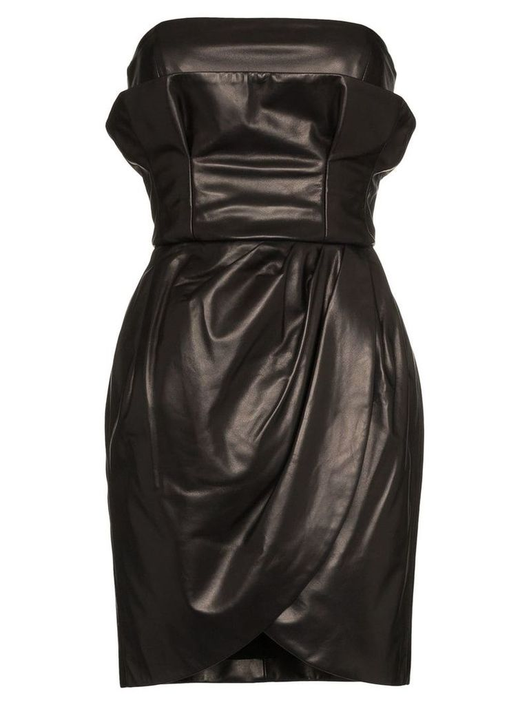 Versace strapless leather mini dress - A1008