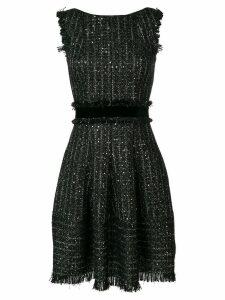 Talbot Runhof sequin tweed dress - Black