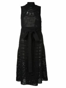 Proenza Schouler Crochet Sleeveless Crewneck Dress - Black