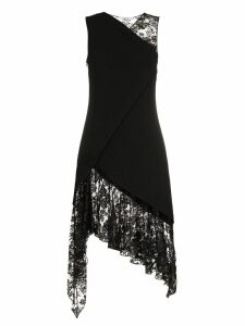 Givenchy sleeveless lace wool dress - 001 Black