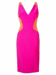 Mugler colour block sleeveless mini dress - Pink