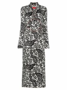De La Vali Elektra floral print midi silk dress - Black
