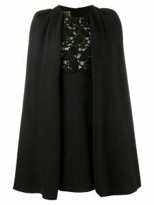 Giambattista Valli macrame lace cape dress - Black