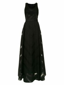 À La Garçonne long organza dress - Black