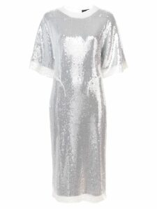 Sally Lapointe sequin embellished T-shirt dress - White