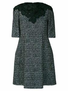 Talbot Runhof embellished tweed dress - Blue
