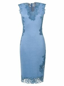 Ermanno Scervino lace detail dress - Blue