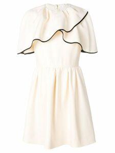 Valentino cold shoulder mini dress - White