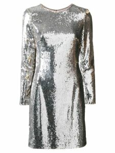 Paule Ka sequined shift mini dress - Metallic