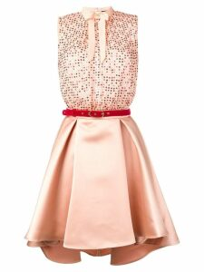 Elisabetta Franchi sequin short party dress - Neutrals