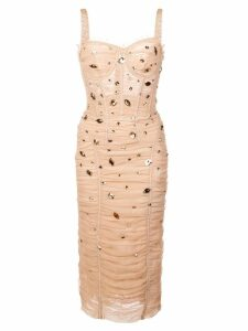 Dolce & Gabbana drape dress - Neutrals