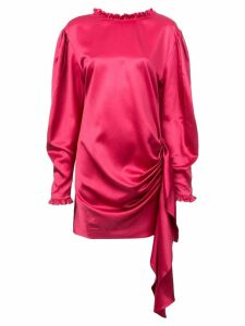 Magda Butrym draped tie waist dress - Pink