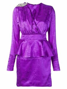 Dodo Bar Or patterned party dress - PURPLE
