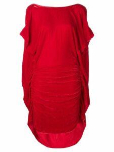 Paula Knorr ruched midi dress - Red