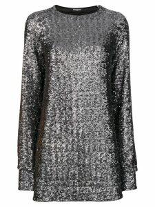 Balmain sequin embroidered mini dress - Metallic