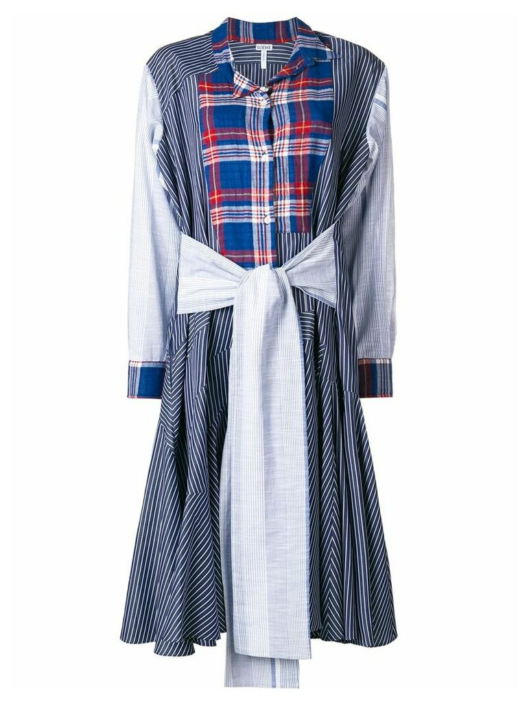 Loewe patchwork dress - Blue